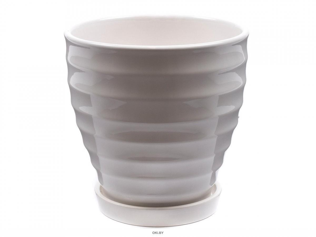ГОРШОК ДЛЯ ЦВЕТОВ керамический 14х14 см с подставкой (арт. CR14025-3, код 206667)