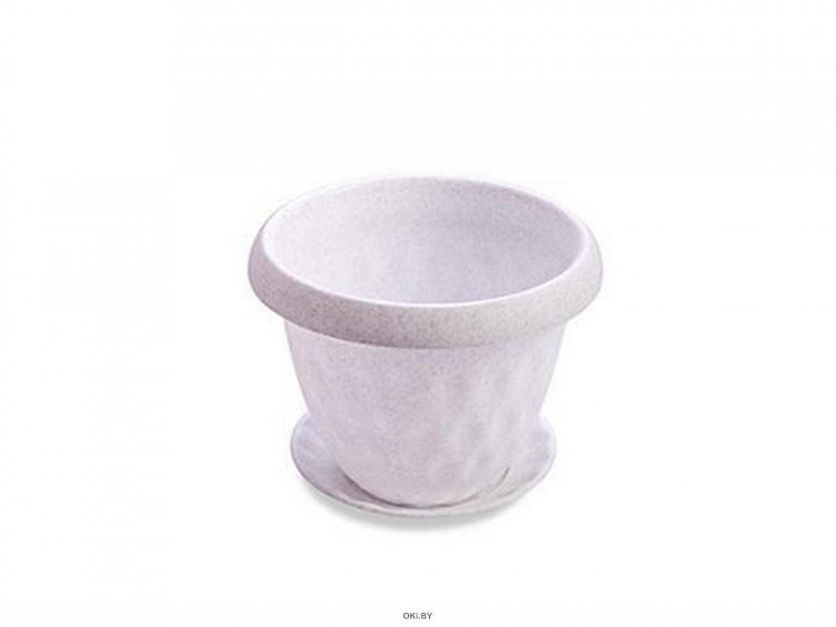 ГОРШОК ДЛЯ ЦВЕТОВ пластмассовый с подставкой ''Розетта'' 40 см / 21 л (арт. С130МРА, код 900756)