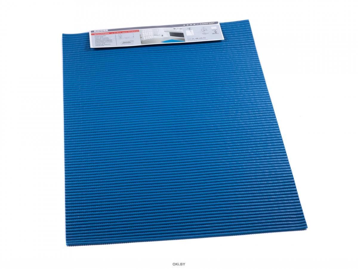 КОВРИК ДЛЯ ВАННОЙ поливинилхлорид «Standard» синий, 50х80 см (арт. 01100303, код 780351)