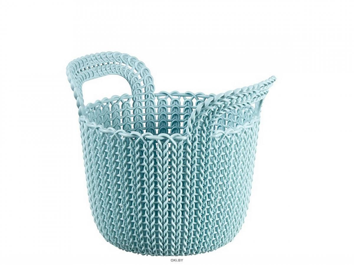 КОРЗИНА пластмассовая «Knit» круглая XS 3 л / 23х19х19 см (арт. 226386, код 971019)