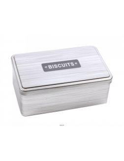 БАНКА ДЛЯ СЫПУЧИХ ПРОДУКТОВ металлическая ''Biscuits'' 18*11*7,1 см (код 169378)