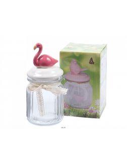 БАНКА ДЛЯ СЫПУЧИХ ПРОДУКТОВ стеклянная с керамической крышкой «Фламинго» 300 мл (арт. 25551365)
