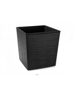 КАШПО пластмассовое «Juka dluto» черное 25х25х25 см (арт. LA599-04, код 045990)