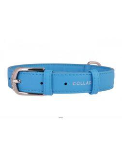 Ошейник «CoLLaR Glamour» ш 20 мм, д 30-39 см, голубой