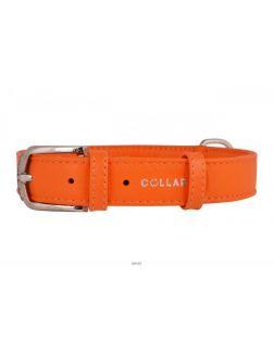 Ошейник «CoLLaR Glamour» ш 20 мм, д 30-39 см, оранжевый