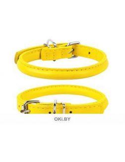 Ошейник «CoLLaR Glamour» для длинношерстных собак, ш 10 мм, д 39-47 см, жёлтый