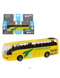 Автобус металлический, масштаб 1:90