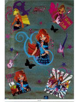 Наклейки декоративные самоклеящиеся «Winx» арт. 10532