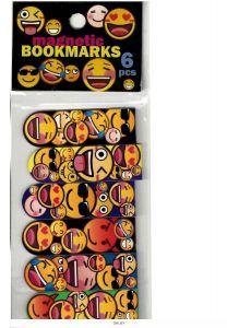 Закладки для книг «Смайлы», магнитно-пластиковые, 6 штук (арт. 87003)