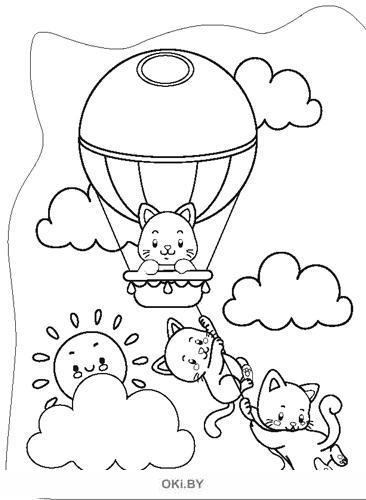 Мур-котики. Раскраска вырубная большая «Играю! Рисую! Фантазирую!»