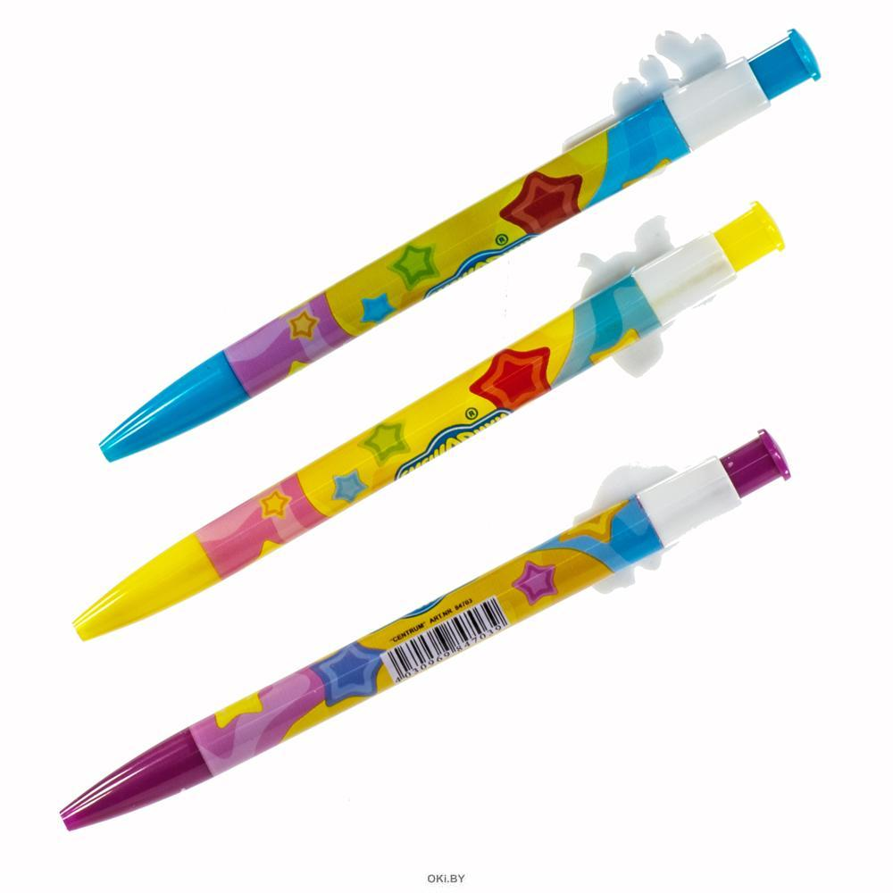 Ручка шариковая автомат СМЕШАРИКИ-0,7 мм, синие чернила