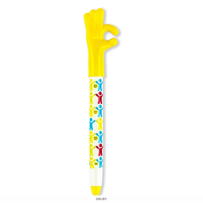 Ручка шариковая « ЖЕСТЫ». Цвет чернил синий, диаметр шарика 0,5 мм, 50 шт. в стенде, ассорти.
