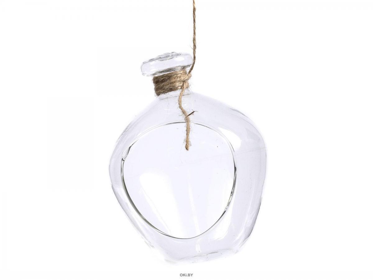 ФЛОРАРИУМ стеклянный подвесной «Баночка пузатая» 10х10х13 см (арт. 27511045, код 212187)