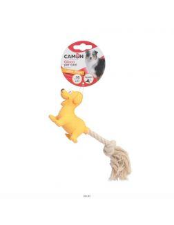 Игрушка Звери из латекса (кот, лошадь, собака) с веревкой и пищалкой для собак, 15 см