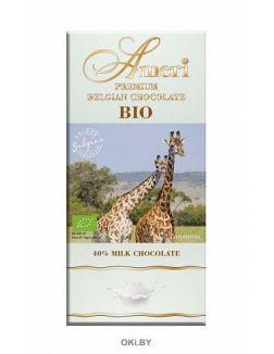 Молочный шоколад BIO «Амери» 40% какао, 100 г