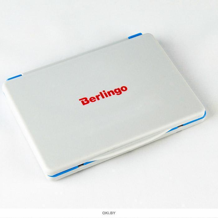 Подушка штемпельная Berlingo 120*90 мм синяя пластиковая