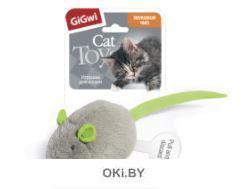 Игрушка для кошек Мышка со звуковым чипом 6 см GiGwi