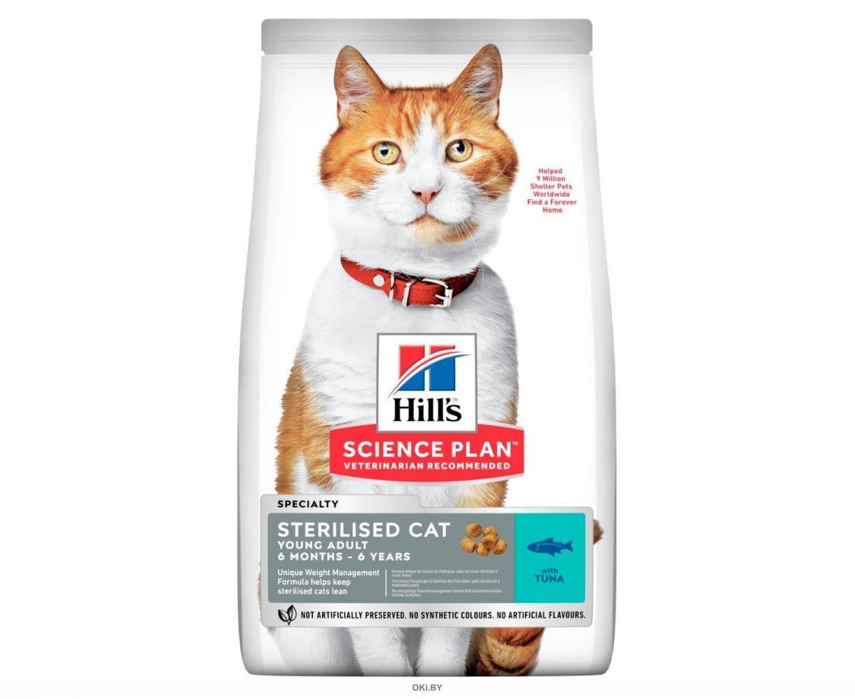 Корм для стерилизованных кошек сухой HILL'S Science Plan Feline Young Adult Sterilised Cat тунец 3 кг (604129)