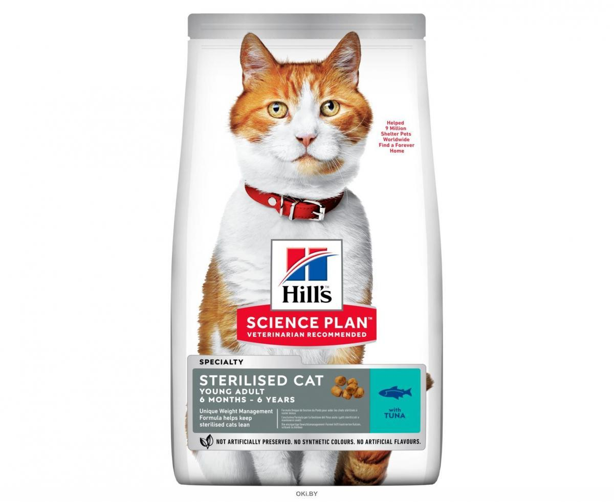 604724 SP Корм для стерилизованных кошек до 7 лет с тунцом, 300 г