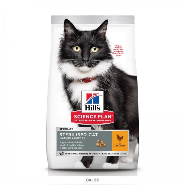 Сухой корм Hill's Sience Plan для взрослых стерилизованных кошек старше 7 лет с курицей 3 кг