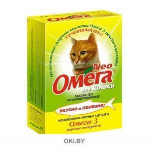 Мультивитаминное лакомство для кошек Омега Neo с морскими водорослями 15 штук