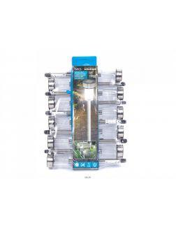 НАБОР ФОНАРЕЙ в пластмассовом корпусе на солнечной батарее 10 шт, 4,8х36,5 см (код 167954)