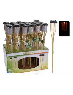 ФАКЕЛ на бамбуковой палке с лампой на солнечной батарее 63 см (код 547948)