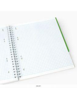 Тетрадь на гребне 120 листов А5 3 цветные  разделителя