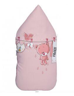 Конверт для новорожденного демисезонный «Мишки - для девочек», 40х75 см