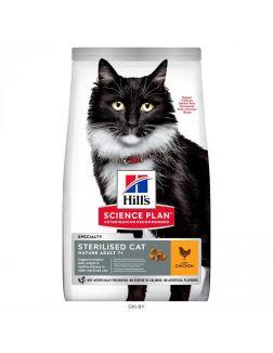 Корм Hill's Sience Plan для взрослых стерилизованных кошек старше 7 лет, с курицей (604728)