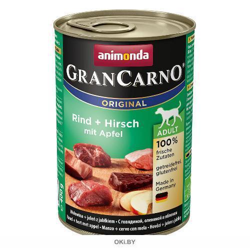 Консервы для собак Гран Карно оленина, яблоко 400 г (82753)