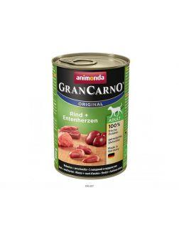 Корм для взрослых собак Гран Карно с говядиной и сердцем утки 400 г