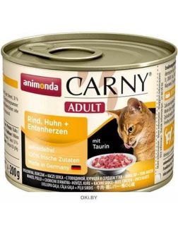 Корм для кошек Карни говядина, курица, утка 200 г (83706)