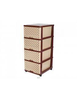 КОМОД пластмассовый с 4-мя выдвижными ящиками 51х40х100 см (арт. 04044, код 680700)