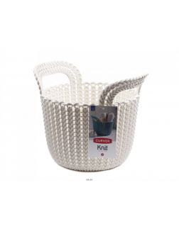 КОРЗИНА пластмассовая «Knit» круглая XS 3 л / 23х19х19 см (арт. 226385, код 971002)