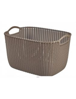 КОРЗИНА пластмассовая «Knit» прямоугольная L 19 л / 40х28х23 см (арт. 226165, код 970135)