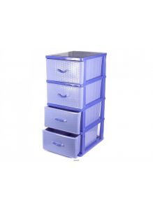 КОМОД пластмассовый с 4-мя выдвижными ящиками 51х40х100 см (арт. 04014, код 680076)