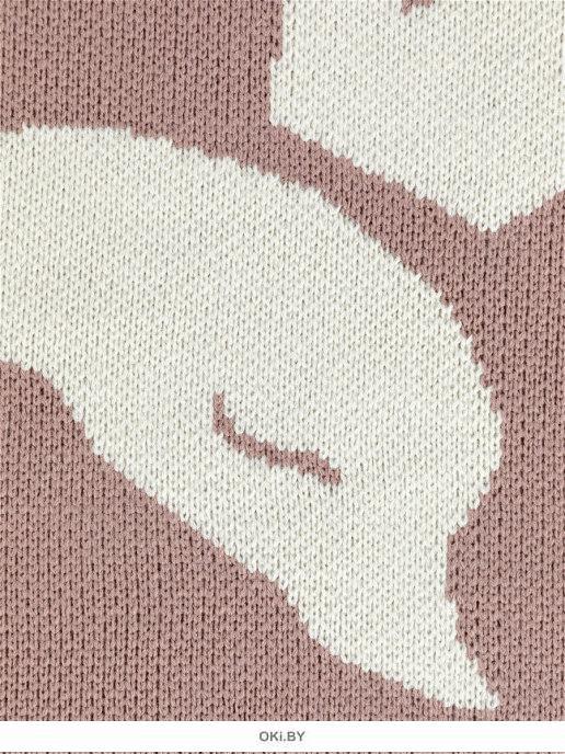 Плед вязаный «Juno» 90х90 рис. 0016 Лебедь