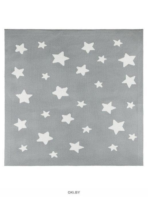 Плед вязаный «Juno» 90х90 рис. 0018 Звездочки