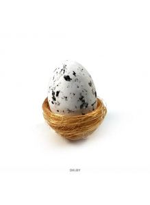 Гнездо декоративное из сизаля с 1 яйцом из пенопласта 65 мм