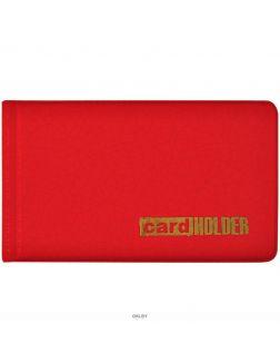 Визитница на 20 визиток красный 65*110 мм ПВХ Спейс