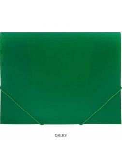 Папка на резинках, А4, зеленая, 500 мкм  (Спейс)