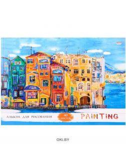 Альбом для рисования 40 л на склейке «Рисунок города»