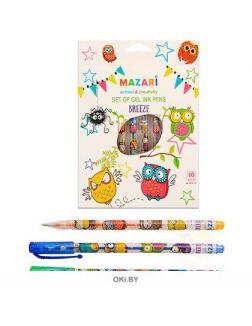 Набор гелевых ручек Breeze, 10 цветов с блестками (Mazari)