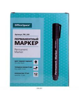 Маркер-перманент «8004 OfficeSpace» 2 мм, круглый корпус, пулевидный наконечник, черный