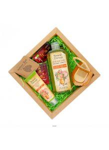 Набор косметики NATURE BOX Botanic Beauty (крем-протектор для рук, гель для душа)