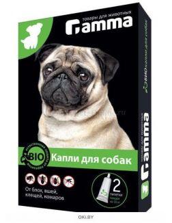 Капли БИО для собак от внешних паразитов 2 пипетки по 1мл. , Gamma