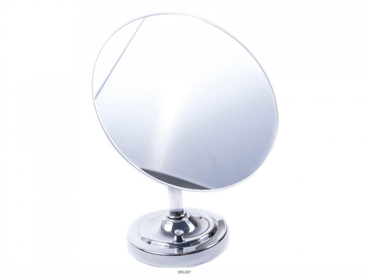 ЗЕРКАЛО стеклянное в металлическом корпусе на подставке 18 см (арт. MR12006, код 180912)