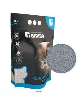 Наполнитель для кошачьих туалетов Gamma 5 л, бентонитовый комкующийся