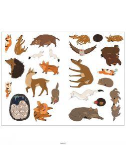 Лесные животные. Зима